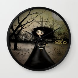 Goth Girl Steampunk Art - Steampunk Alchemy Wall Clock