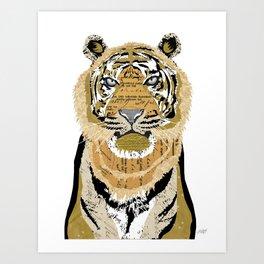 Tiger Collage Art Print