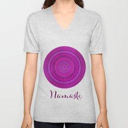 Namaste Mandala Yoga Hindi Symbol Unisex V-Neck
