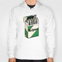marijuana Hoodies featuring Mainstream Marijuana by Kelsey Dake