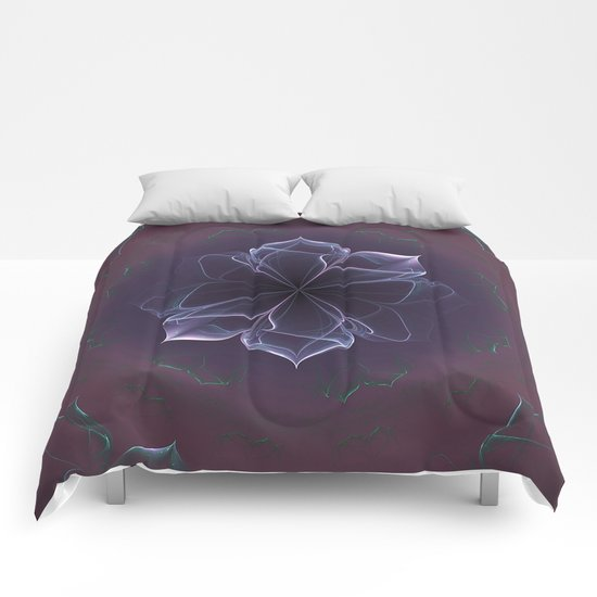 Amethyst Ornate Blossom in Soft Pink Comforters