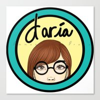 daria Canvas Prints featuring Daria by Emmanuella Draws