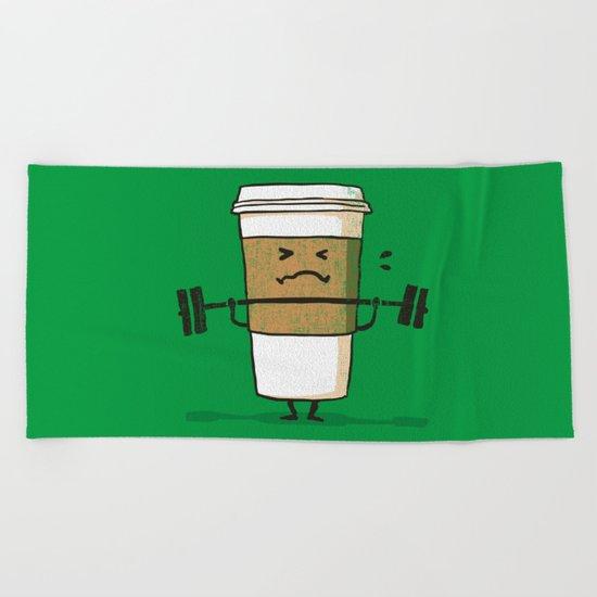 Strong Coffee Beach Towel