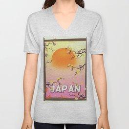 Japan Blossom Garden Unisex V-Neck