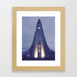 Hallgrímskirkja church Framed Art Print