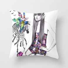 Tropic mood  Throw Pillow