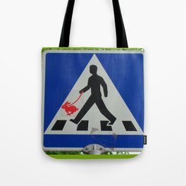 Taking Bunny for a Walk Tote Bag