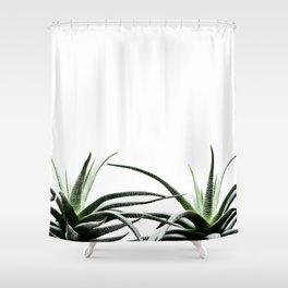 Succulents - Haworthia attenuata - Plant Lover - Botanic Specimens delivering a fresh perspective Shower Curtain