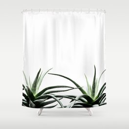 Succulents - Haworthia attenuata - Plant Lover - Botanic Specimens delivering a fresh perspective Shower Curtain