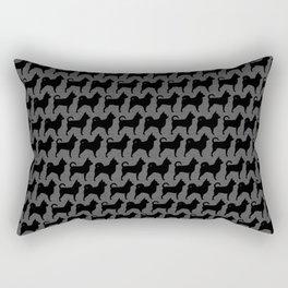 Chihuahua Silhouettes Pattern Rectangular Pillow