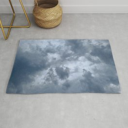 Fifty Shades of Grey Clouds   Nature Photography Rug