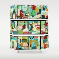 film Shower Curtains featuring Film Strips by Tina Carroll