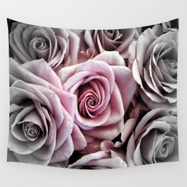 Pink Rose : Pop of Color Wall Tapestry