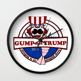 Gump not Trump Wall Clock