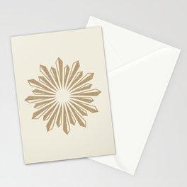 Sunburst Retro 2 - Gold Stationery Cards