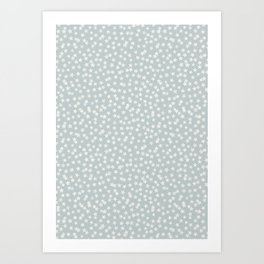 SILVER STARS CONFETTI Art Print