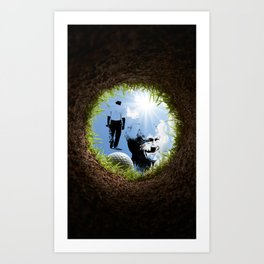 Hole in one Arnold! Art Print