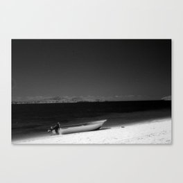 Boat on a beach in Fiji Canvas Print