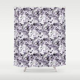 Flower Joy in B+W Shower Curtain