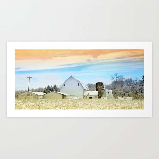 A cold February in Westerville Ohio Art Print