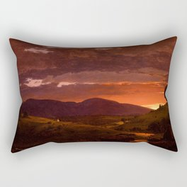 "Frederic Church ""Twilight, Short Arbiter 'Twixt Day and Night (Sunset)"" Rectangular Pillow"