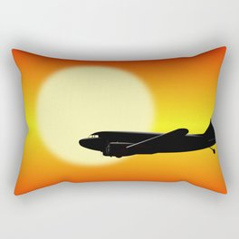 DC-3 passing sun Rectangular Pillow