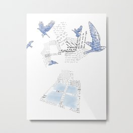 Hope is the Thing with Feathers 3 Metal Print