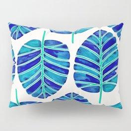 Elephant Ear Alocasia – Blue & Turquoise Palette Pillow Sham