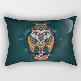 Wisdom Of The Owl King Rectangular Pillow