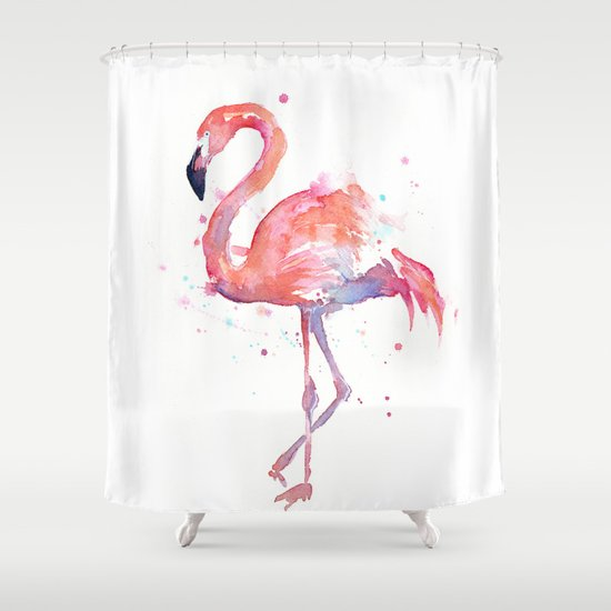 Flamingo Shower Curtain By Olechka Society6
