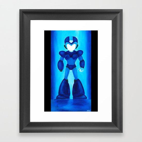 Megaman Blue Framed Art Print