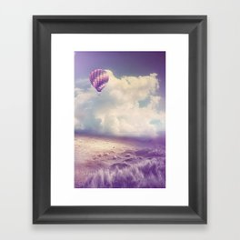 BALLOON FLIGHT Framed Art Print
