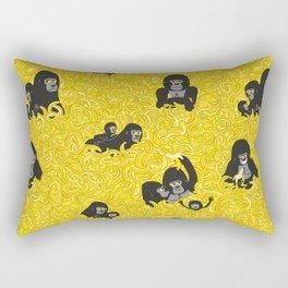 Gorillas and bananas by unPATO Rectangular Pillow