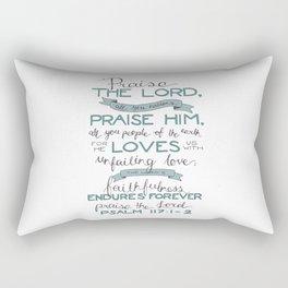 Psalm 117: 1-2 Rectangular Pillow
