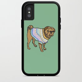 Pugs in sweaters iPhone Case