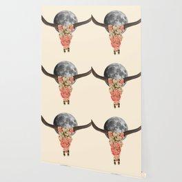 boho bull skull Wallpaper