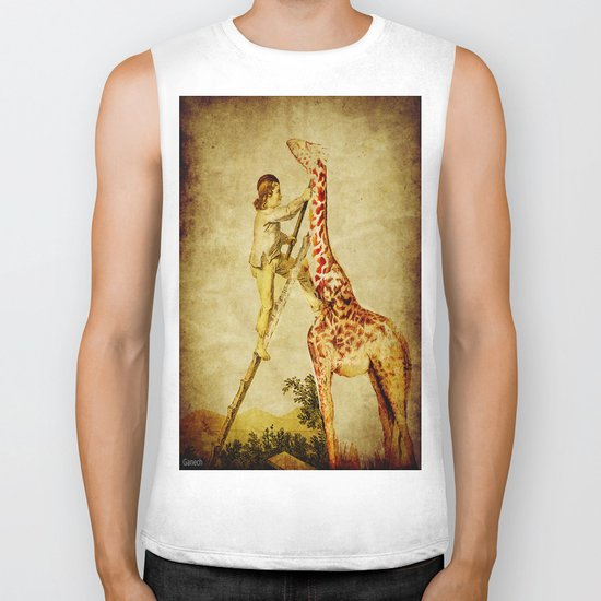 le petit garçon et la girafe  Biker Tank
