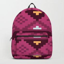Purple Down Arrowhead Native Aztec Pattern Backpack