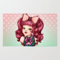 lolita Area & Throw Rugs featuring Sweet Lolita by Christine Alcouffe