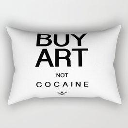 Buy Art Not Cocaine (black) Rectangular Pillow