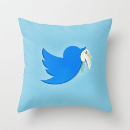 Peace at the time of haters Throw Pillow