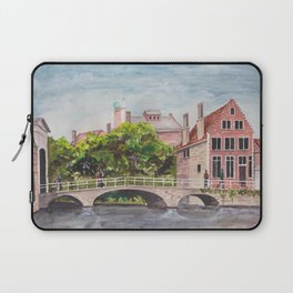 Bruges Bridge Laptop Sleeve