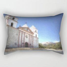 Santa Barbara Mission Rectangular Pillow