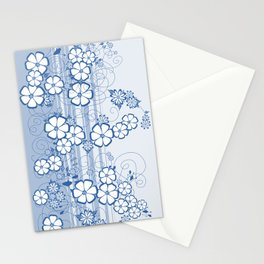 Abstract flowers with background Stationery Cards