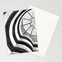 Architecture sketch of the Guggenheim Museum in New York Stationery Cards