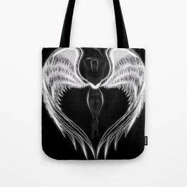 Angel negro de alas blancas Tote Bag