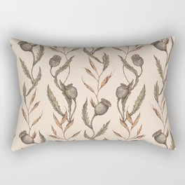Poppy Pod Pattern Rectangular Pillow