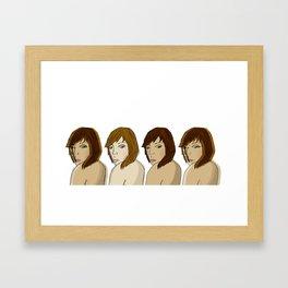 Girl's of the night. Framed Art Print
