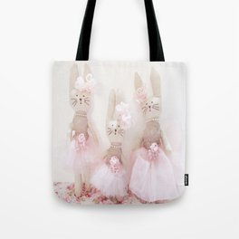 Bunnies Pretty in Pink Tote Bag