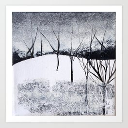 Landscape black and white Art Print